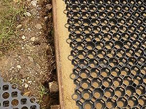 10 m x 4 m imperméable Base pour abri (4,5 m x 2 m) (9m2 PLUS filtration 5mx2m 110/séparation Dalles en plastique pour tissu gravier Grille. Également utilisé comme Parking/pelouse avec grille pour jardin grille. Noir bases sans béton slab. rapide et écologique, vendu avec 10 m2 Par filtration/séparation also. crée un Tissu perméable stable ou à la surface de la chaussée.