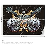 FORWALL DekoShop Alchemy Alchemy Fototapete Tapete Gitarren Hardrock AD1084P4 (254cm x 184cm) Photo Wallpaper Mural