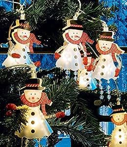 Dekolichterkette '10 Schneemänner',1 Komplett-Set