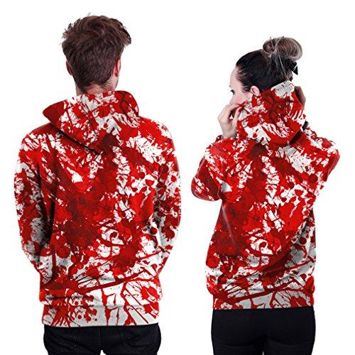 Belsen unisex Kapuzenpullover Sweatshirts Liebhaber Valentine Set Splashing blood