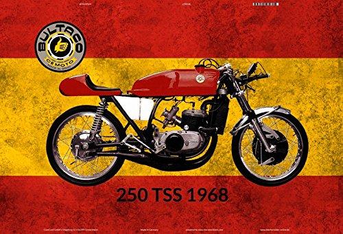 Bultaco 250 TSS 1968 Spanien motorrad blechschild (Bultaco Motorräder)