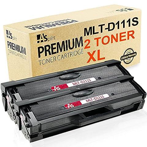 ASprint 2 XL Kompatible Toner MLT-D111S D111S 111S MLTD111S Tonerkartusche für Samsung Drucker Schwarz 1,500 Seiten Verwenden für Xpress M2020 M2020W M2022 M2022W