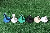 Juego de 6 tee de goma para alfombrillas entrenamiento de golf (2 tees transversales incluidas)