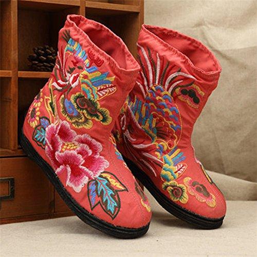 &qq Tradizionale cinese nazionale vento/vento/ricamo/scarpe/donne di/comfort/tempo libero/moda/le quattro stagioni, autunno, inverno Orange