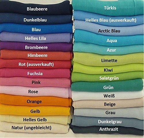 Mullwindeln | Spücktücher | Mulltücher 5 Stück 70 x 70 cm mit verstärktem Rand und Öko-Tex Standard 100 (5x freie Farbwahl)