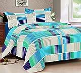 Vintana Blue Cotton Sattin King Size Bed...