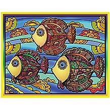 Colorvelvet 47 x 35 cm Peces ingenuo colección Sistema de Dibujo para Colorear (tamaño Grande