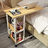 Computertische XIA Laptop Tisch Holz Faule Tisch Bett Tisch Schreibtisch Haushalt 80 * 40 * 69cm 6 Farben (Farbe : Teak Color)