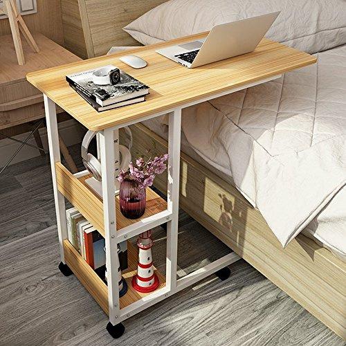 XIA Table d'ordinateur portable bois paresseux table lit table bureau ménage 80 * 40 * 69 cm 6 couleurs (Couleur : Teak color)