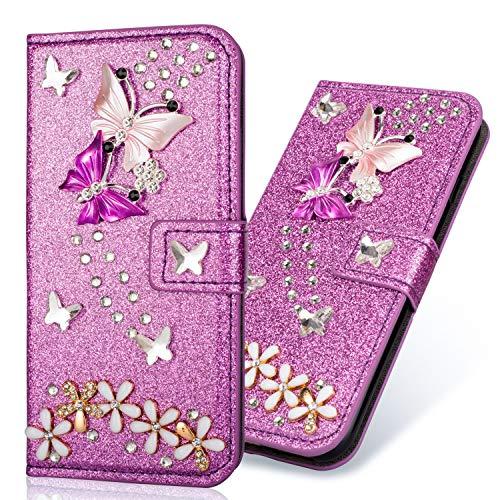 Galaxy Womens Rucksack (Bling Glitzer Diamant Magnetverschluß für Samsung S10 Plus,Folio Wallet Ledertasche Funkeln Glitzer Slim Leder Hülle Schutzhülle Scratch Bumper Stand Card Slots Magnetverschluß Etui Case)