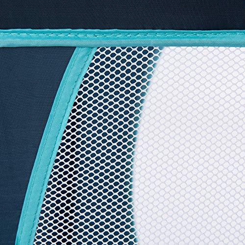 Hauck Kindereisebett Dream N Play Plus inklusive Matratze, seitlichem Reißverschluss, und Transporttasche, ab Geburt, tragbar, faltbar und klappbar, blau (navy aqua) 120 x 60 cm - 8