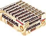 24 Rollen Mentos Choco & Caramel weiß Choco a 38g softer Karamellbonbons mit weißer Schokoladen-Füllung