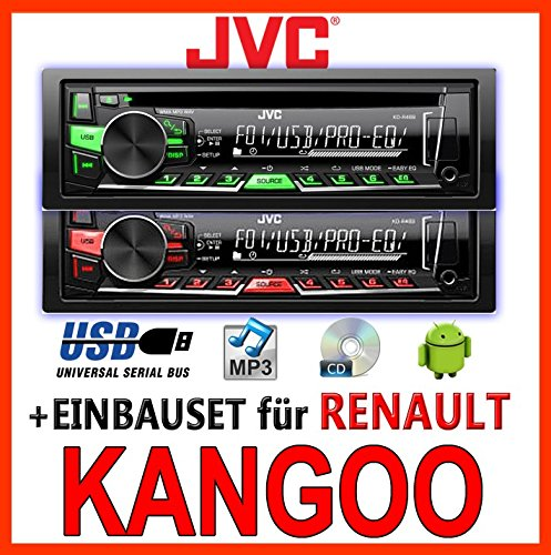 Renault Kangoo 1 - JVC KD-R469E - CD/MP3/USB Autoradio - Einbauset