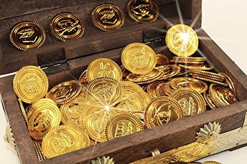 Piraten-Schatz- Gold-Münzen, 200 Stück