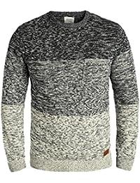 Blend Garry Herren Strickpullover Feinstrick Pullover Mit Rundhals Und  Melierung Aus 100% Baumwolle 235f4a75cd
