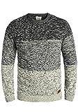 Blend Garry Herren Strickpullover Feinstrick Pullover Mit Rundhals Und Melierung Aus 100% Baumwolle, Größe:L, Farbe:Black (70155)