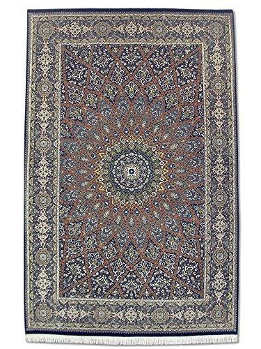 handgeknupfter-gombud-teppich-dunkelblau-wolle-seide-hohepunkte-187-x-289-cm