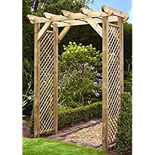 Anchor Fast Squared Lattice Wooden Garden Arch - !!! SALE !!!