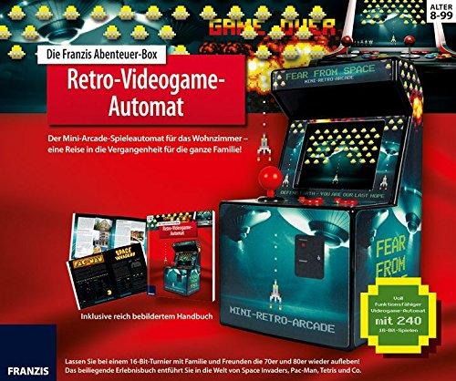 Preisvergleich Produktbild Die FRANZIS Abenteuer-Box Retro-Videogame-Automat: Der Mini-Arcade-Spielautomat für das Wohnzimmer! Mit spannendem Erlebnisbuch | Ab 8 Jahre