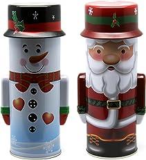 Bada Bing 3er Set Metalldose Keksdose Plätzchendose Weihnachtsdose rund Stern Trend Neu