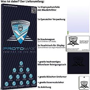 Film de protection avec filtre de lumière bleue PROTOMAX pour les écrans LED et LCD 19 pouces, compatible avec les produits de tous les fabricants (également les écrans tactiles) en format 16:9