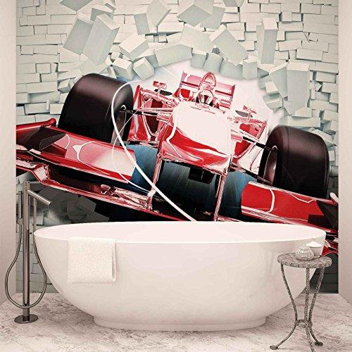 Preisvergleich Produktbild Formel-1-Rennwagen Bricks - Forwall - Fototapete - Tapete - Fotomural - Mural Wandbild - (2774WM) - XXXL - 416cm x 254cm - VLIES (EasyInstall) - 4 Pieces