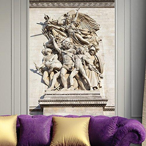 Arc Triomphe-dekor De (Arc de Triomphe Skulptur Wandbild Wahrzeichen Paris Foto-Tapete Kunst Dekor Erhältlich in 8 Größen Extraklein Digital)