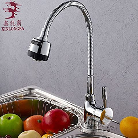 BBSLT Decorazione verticale doppia qualità tubi cibo ciotola cucina rubinetto lavabo