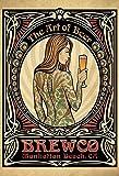 Schatzmix Brewco California Frau mit Tattoo und Bier Beer Alkohol blechschild