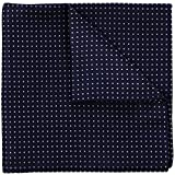 Navy Blue Pin Dot 100% Silk Pocket Square, Wedding Collection, Signature Wrapping 30 x 30 cm