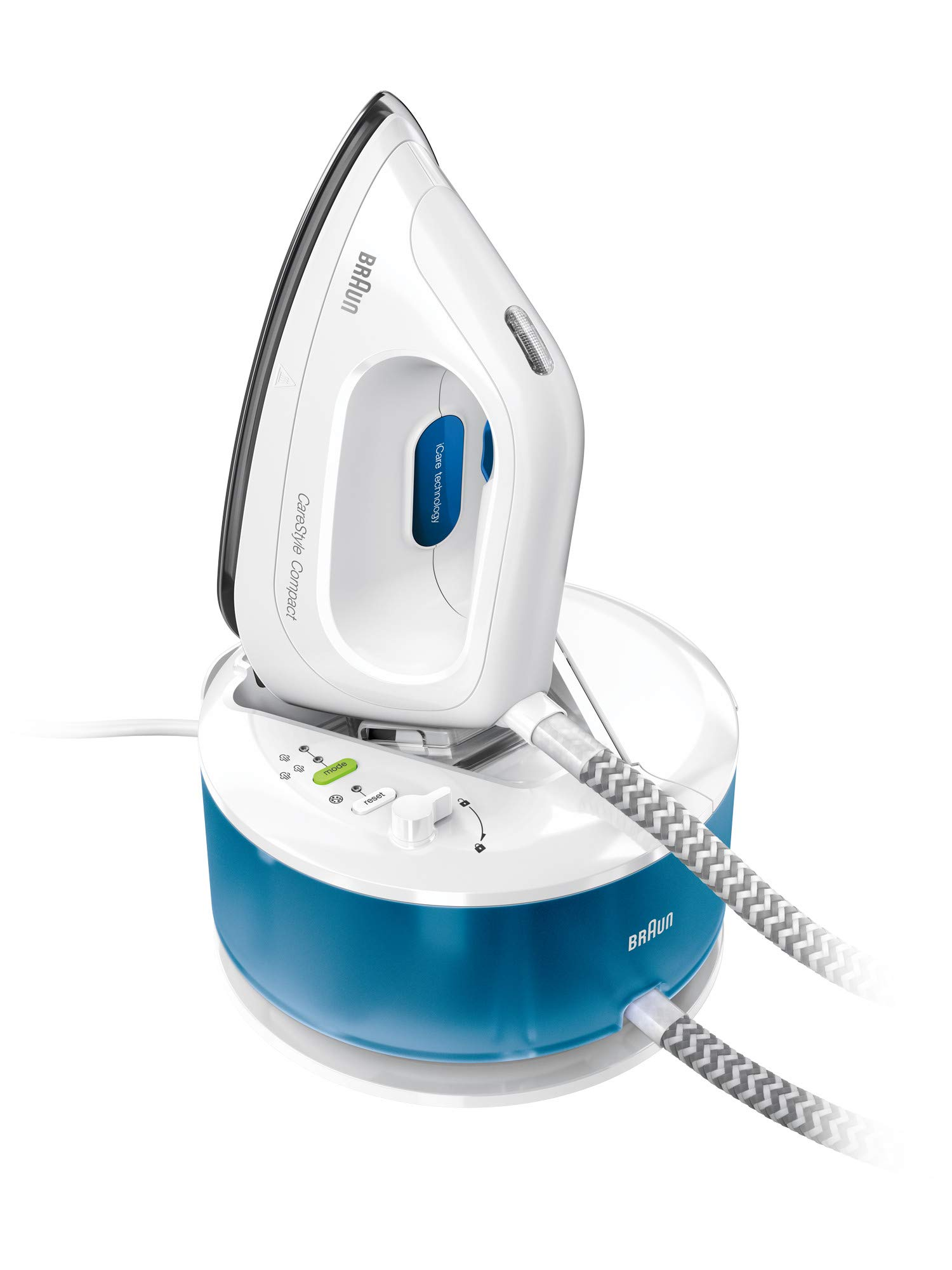 Braun CareStyle Compact IS2043 Dampfbügelstation | 2.220 Watt | 5 bar | Dampfstoß 300g/min |1,3 Liter Wassertank