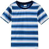 Spring&Gege T-Shirts à Rayures Manches Courtes Garçon, Tee pour Enfant