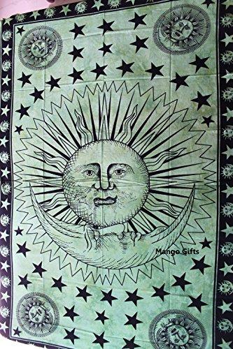 MANGO Gifts sole, luna, stella, arazzo da appendere alla parete, Tie Die fatto a mano regalo Art 208,3x 137,2cm cm - Sun Moon Tie