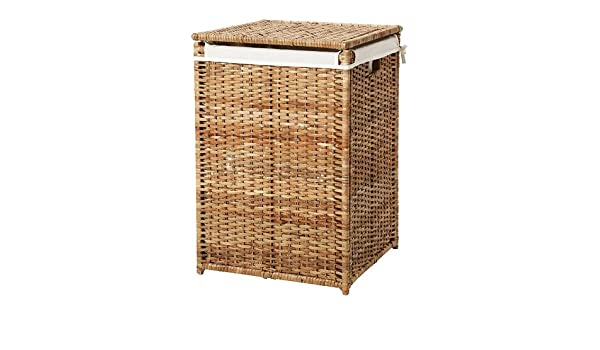 IKEA BRANAS   Laundry basket with lining  rattan   80 l  Amazon co uk   Kitchen   Home. IKEA BRANAS   Laundry basket with lining  rattan   80 l  Amazon co
