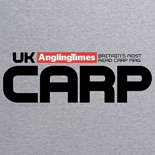 UK Carp Logo T-Shirt, Herren Grau Meliert