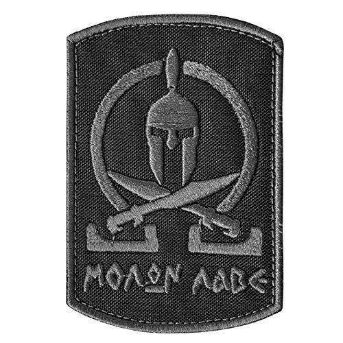 ACU Subdued Spartan Molon Labe Tactical Morale Army Milspec Embroidered Touch Fastener Patch