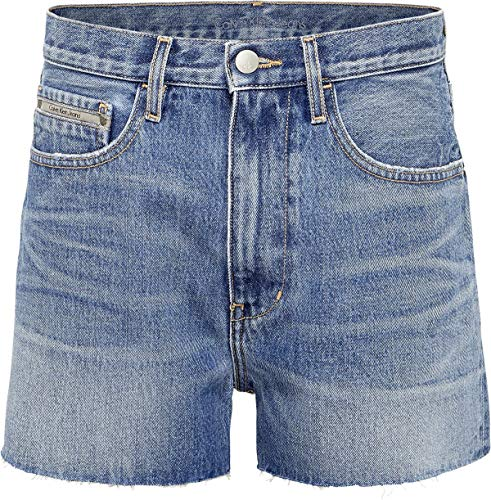 CK Jeans Calvin Klein JeansHigh Rise Denim Womens Shorts 28 inch Endless Blue -