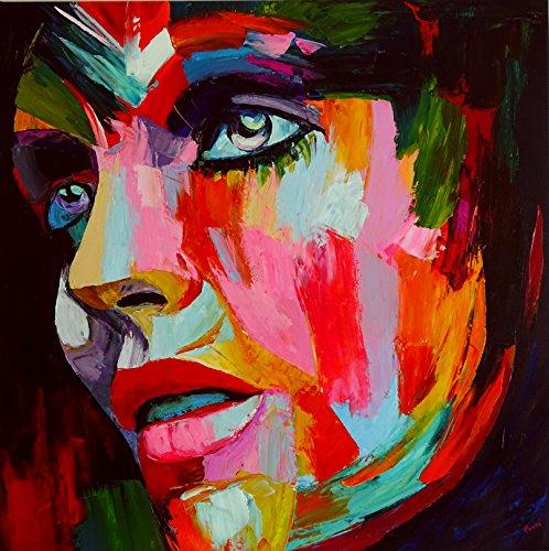 geheimnisvolle Frau Portrait Gesicht 150x50cm Panoramabild Schwarz Weiss