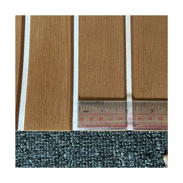 yuanjiasheng 90×240cm EVA Synthetic Boat Decking Sheet Yacht Marine Flooring Anti Slip Carpet With Backing Adhesive,Bevel Edge 6