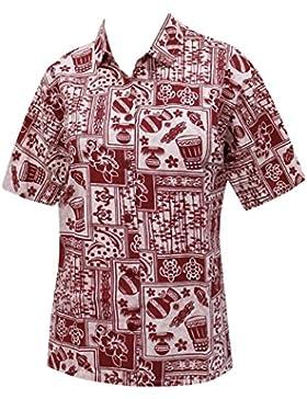 Las mujeres ocasionales botón hawaiano camisa casual mangas cortas ropa de playa hacia abajo para cubrir la piel...