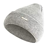 BURFLY Herren Damen Klassische Baggy Warm Crochet Winter Wolle Stricken Ski Beanie Skull Slouchy Caps Hut (Grau)