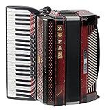 Zupan Juwel IV 120 EA/MHR Helikon Cassotto Akkordeon (42 Diskanttasten, 4-chörig, 120 Bassknöpfe, Holztastatur, inkl. Trageriemen und Koffer) Shadow Red