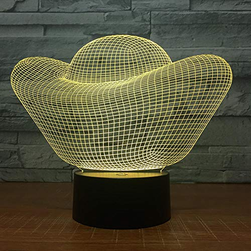Oro del lingote 3D llevó la luz 7 colores llevó la luz de la noche tocó la luz de la noche del...