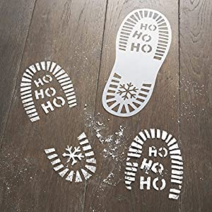 Santa's Christmas Eve Footprint Stencils