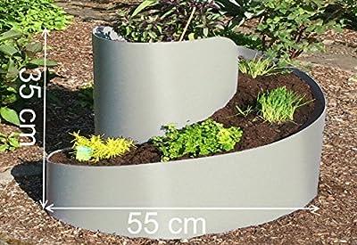 Kleine Kräuterspirale Hochbeet Kräuterschnecke Kräuterbeet steingrau hellgrau RAL 7030 von EXCOLO - Du und dein Garten