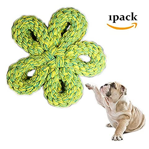 Morbuy Dog Chew Toy, Knots Rope for Small Dogs Teeth Cleaning Cotton Rope Dog Toy 1PC (C)