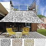 Unbekannt KOOPMAN NEU Garten Terrasse Außen Camouflage Sonnenschirm Segel Baldachin Abdeckung Tuch Rechteckig Sonnenschirm Markise Windjacke 2 x 3m - Braun