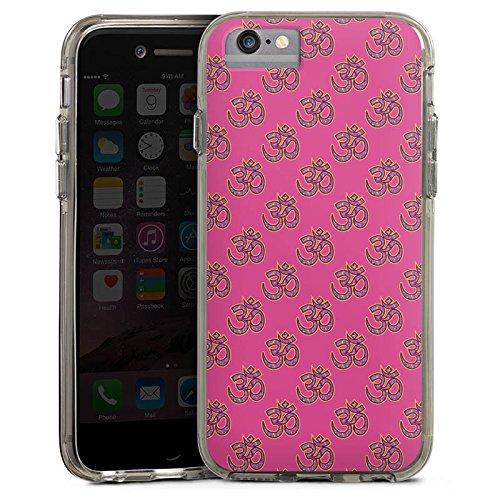 Apple iPhone 8 Bumper Hülle Bumper Case Glitzer Hülle Indisch Indien Muster Bumper Case transparent grau