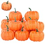 Rocutus 12 Pieces Mini Artificial Pumpkins,Lifelike Simulation Mini Pumpkins Fall Mini Artificial Pumpkins,Halloween...