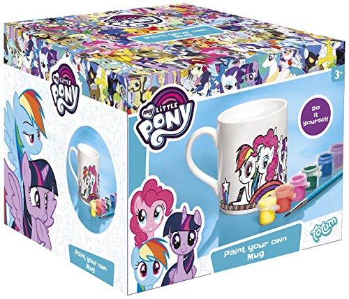 Totum-My Little Pony Tasse zum Ausmalen mit Pinsel in 6 verschiedenen Farben